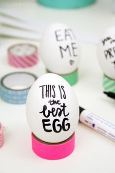 Easter Egg Handlettering by Luloveshandmade