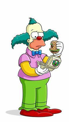 Simpsons Krusty The Clown Cigarettes Futurama, Simpson Wallpaper Iphone, Cartoon Wallpaper, The Simpsons, Krusty The Clown, Simpsons Drawings, Simpsons Characters, Simple Cartoon, 90s Cartoons