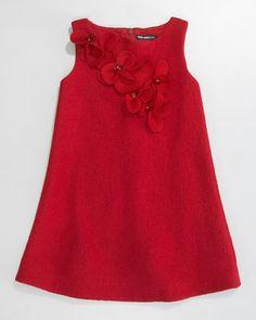 David Charles Floral Boucle Shift Dress - Women's style: Patterns of sustainability Frocks For Girls, Dresses Kids Girl, Kids Outfits, Kids Blouse Designs, Kids Dress Wear, Baby Dress Design, Organza Dress, Kind Mode, Dress Patterns