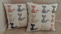 Applique pillow applique cushion pachwork by LeisiLapikoda