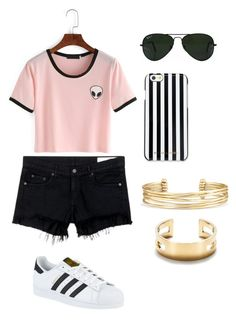 """Lena"" by alexaw-2 on Polyvore featuring rag & bone/JEAN, adidas, MICHAEL Michael Kors, Ray-Ban, Stella & Dot and Tiffany & Co."