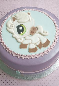 Littlest Pet Shop Birthday cake by cakejournal- Emily loves her littlest pet shop!