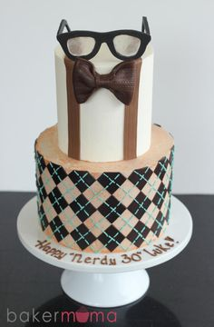 Nerdy 30 Cake
