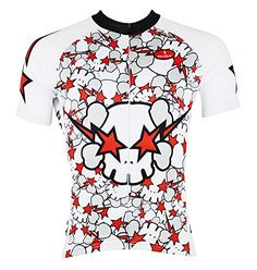 QinYing Mens Colorful Ghost Skulls Outdoor Sports Shirt white cycling Jersey Top XXL * Check out the image by visiting the link.Note:It is affiliate link to Amazon.