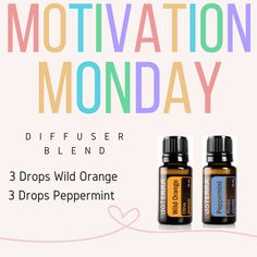 Wake Up! It's Monday! Throw it in a diffuser or cut the drops in half and rub it…