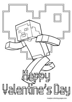 more minecraft valentines day coloring pages on maatjes coloring pages com - Coloring Pages Minecraft