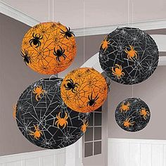 Halloween decorations : IDEAS & INSPIRATIONS  Halloween Decorations Spider Web Printed Lanterns