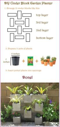 Ten Amazing Ways to Make Your Own Cinder Block Planters DIY Garden : DIY Cinder Block Garden Planterstarted this but haven't finished it yet! The post Ten Amazing Ways to Make Your Own Cinder Block Planters appeared first on Garden Easy. Diy Garden, Garden Crafts, Herb Garden, Garden Projects, Garden Ideas, Garden Tips, Patio Ideas, Garden Pond, Fence Ideas