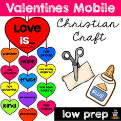 Valentines Day Mobile Craft by The Kinder Kids Valentine's Day Crafts For Kids, Valentine Crafts For Kids, Children Crafts, Valentine Party, Christian Crafts, Christian Love, Sunday School Lessons, Sunday School Crafts, Mobile Craft