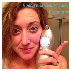 Weekly appointment with my Rodan and Fields Macro Exfoliator. The white stuff on my finger is dead skin!  So glad its on my finger and NOT on my Face!