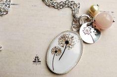 Ketten lang - Kette - Pusteblume Pärchen*Hand gestempelt*925 - ein Designerstück von Ladyville bei DaWanda