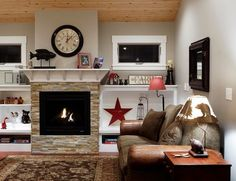 Fireplace not entirely made of stone. 100 Fireplace Design Ideas For A Warm Home During Winter