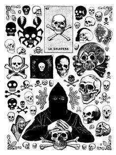 Black and white skull flash