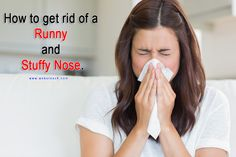 how to stop a runny and stuffy nose