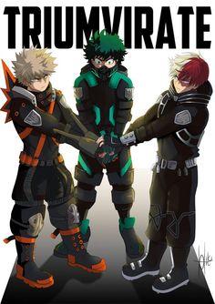 My Hero Academia Shouto, My Hero Academia Episodes, Hero Academia Characters, Deku Anime, Hiro Big Hero 6, The Three Musketeers, Big Three, Hero Wallpaper, Anime Boyfriend