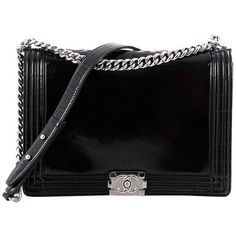 321723038ca268 Preowned Chanel Reverso Boy Flap Bag Glazed Calfskin Large (603.395 HUF) ❤  liked on