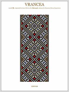 Semne Cusute: iie din Vrancea, MOLDOVA Folk Embroidery, Embroidery Patterns, Cross Stitch Patterns, Knitting Patterns, Moldova, Cross Stitching, Beading Patterns, Pixel Art, Folk Art
