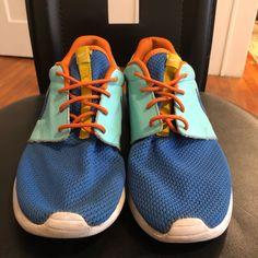 brand new 6f59f fc12b Nike Shoes   Custom Nike Roshe One   Color  Blue Orange   Size