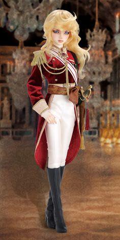 SD16女の子「オスカル・フランソワ・ド・ジャルジェ ~近衛連隊長Ver.~」 | スーパードルフィー ベルサイユのばら - Super Dollfie®.net