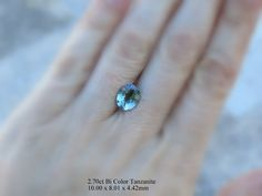 2.70ct  Tri Color Tanzanite available for your custom jewelry design by AleaMariCo on Etsy