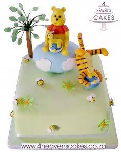 Winnie the Pooh and Tigger Tigger, Winnie The Pooh, Princess Peach, Cakes, Character, Winnie The Pooh Ears, Cake, Pooh Bear, Pastries