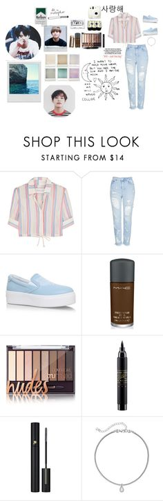 """""""My Style"""" by maloleybae ❤ liked on Polyvore featuring Solid & Striped, Topshop, Kenzo, MAC Cosmetics, Lancôme, Fuji, LC Lauren Conrad, Holga, Polaroid and Veras"""