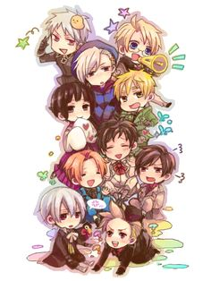 Hetalia chibi party OH MY GOSH SO CUTEEEEE!!!!!!!!!!!!!!!!!!!!!!!!!!!!!!