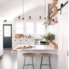 Kitchen Decor 50 Totally Gorgeous Kitchens to Inspire a Year of Projects - From boldly tiled backsplashes to mix-and-match islands, we rounded up 50 incredible kitchens sure to inspire your next project (or dream home). Kitchen Interior, Gravity Home, Interior, Home, Kitchen Decor, House Interior, Home Deco, Home Kitchens, Kitchen Design