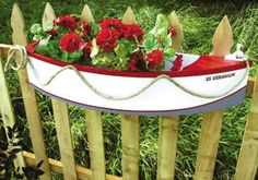 19-w2284 - Half Boat Planter Woodworking Plan - Woodworkersworkshop® Online…