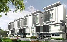 MARVELLOUS LAND SDN. BHD. Row House Design, Duplex Design, Archi Design, Concept Architecture, Residential Architecture, Modern Architecture, Modern Townhouse, Mansions, House Styles