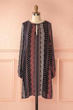Sanja Flowers #boutique1861 #dress #navy #pink #flower