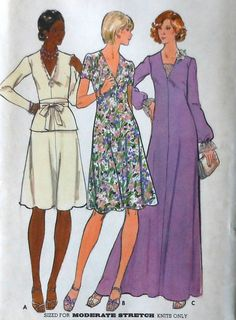 Vintage 70s Dress and Gown Sewing Pattern