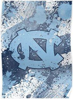 8b94431ead935b Carolina Tarheels · NORTH CAROLINA Poster North Carolina Colleges