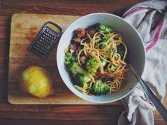 Broccoli + sausage spaghetti