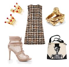 """""""basic but glam outfit 💛💛💛"""" by yatsina ❤ liked on Polyvore featuring Dolce&Gabbana and Tom Ford"""