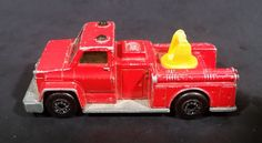 1977 Matchbox Superfast Lesney Products Red Snorkel Fire Engine No. 13 - Made in England https://treasurevalleyantiques.com/products/1977-matchbox-superfast-lesney-products-red-snorkel-fire-engine-no-13-made-in-england #Vintage #1970s #70s #Seventies #Matchbox #Superfast #LesneyProducts #Lesney #Snorkel #FireEngine #Firetrucks #Fireman #Firefighters #Toys #Emeregency #Vehicles #Autos