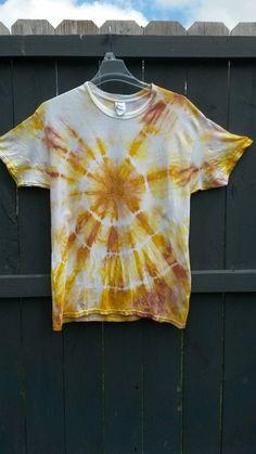 Tie Dye Shirt Yellow Tie Dye Shirt Golden by MessyMommasTieDyes