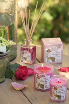 bougie et bouquet parfum l 39 all e des roses http. Black Bedroom Furniture Sets. Home Design Ideas