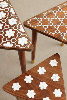 Mother-Of-Pearl Nesting Tables - anthropologie.com