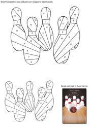 Bowling Skittles Iris Folding Pattern