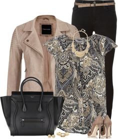 Stitch fix: LOVE LOVE LOVE this coat, and love the printed short sleeve blouse. Also love the necklace. Not a fan of the purse. Heels are too high.