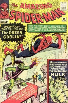 Marvel The Amazing Spider-Man No 14 1964 The Green Goblin The Hulk Spiderman Marvel Comics, Marvel Dc, Spiderman Marvel, Amazing Spider Man Comic, Amazing Spiderman, Incredible Hulk, Spiderman Classic, Rare Comic Books, Comic Book Covers