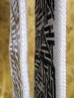 Thompson reversible miny scarf | Handmade | black & silver