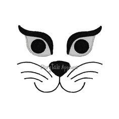Machine Embroidery Design - Halloween Cat Face Applique