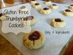 Gluten Free Vegan Thumbprint Cookies