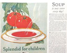 Tomato Soup  Campbell Kids  Vintage Magazine Ad