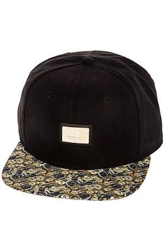Crooks and Castles Snapback Hat Timepiece in Black and Gold