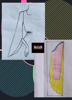 Corset Sewing Pattern, Pattern Drafting, Dress Sewing Patterns, Clothing Patterns, Dressing Gown Pattern, Pola Lengan, Sewing Sleeves, Sewing Blouses, Sleeves Designs For Dresses