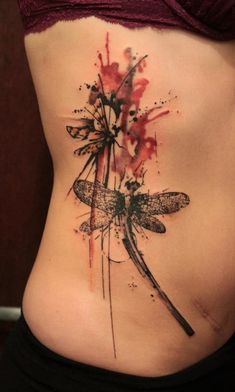 dragonfly tattoo by gene coffey