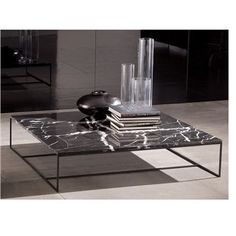 Minotti Calder Marble Coffee Table by Dordoni Coffee Table Styling, Coffe Table, Decorating Coffee Tables, Coffee Table Design, Contemporary Coffee Table, Modern Coffee Tables, Contemporary Furniture, Marble Furniture, Metal Furniture